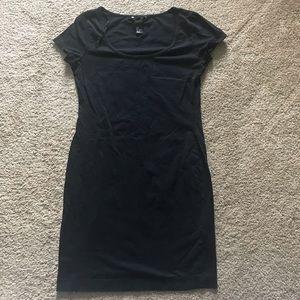 H&M Black fitted t-shirt dress